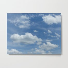 Blue Summer Sky // Cloud Photography Metal Print