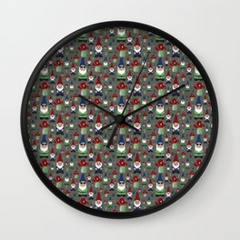 Rollin with my Gnomies Wall Clock