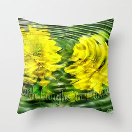 """Earth Laughs in Flowers"" by Artist McKenzie http://www.McKenzieArtStudio.com Throw Pillow"
