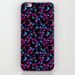 Pink and Purple Geometric Triangles iPhone Skin