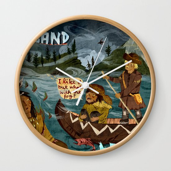 Postcard from Lewis + Clark Wall Clock