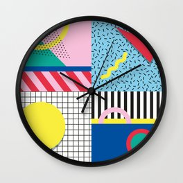 Memphis Party Wall Clock