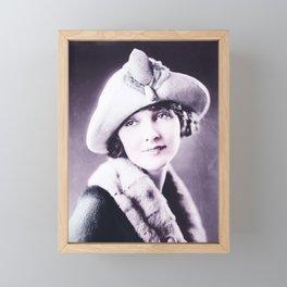 Florence Fair 1920-25 Born Flobelle Fairbanks, niece of Douglas Fairbanks Infrared art by Ahmet Asar Framed Mini Art Print