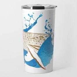 Whale Splash Travel Mug