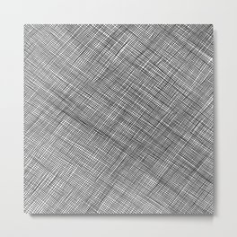 Crosshatch Pattern Metal Print