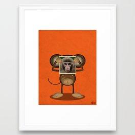 Real Monkey Framed Art Print