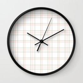 Cute Plaid 1 Wall Clock