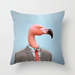 Pink Flamingo's Throw Pillow