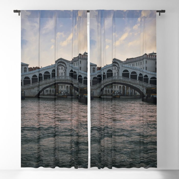 Rialto bridge at dawn Blackout Curtain