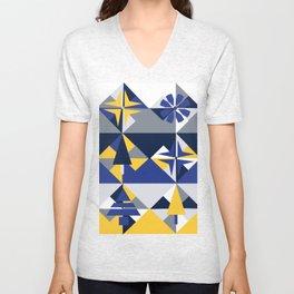 Geometric Winter Unisex V-Neck