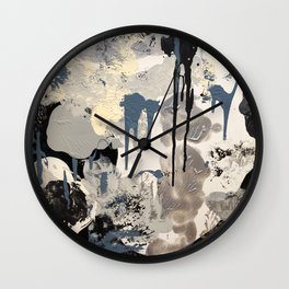 """Cloud"": Raw Series Wall Clock"