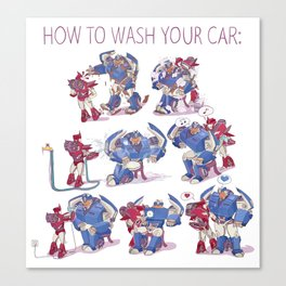 How to wash your car Canvas Print