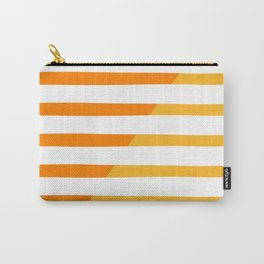 Beach Stripes Orange Yellow Carry-All Pouch