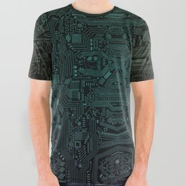 Circuitry Details All Over Graphic Tee