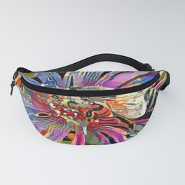 Honey Bee on Ice Plant Flower Fanny Pack