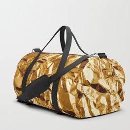 Crumpled Golden Foil Duffle Bag
