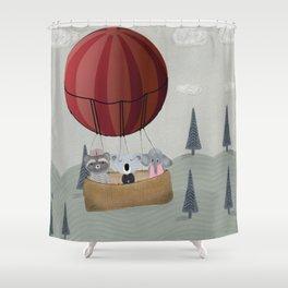 the littlest adventure Shower Curtain