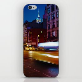 Taxi's Whizzing By iPhone Skin