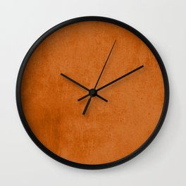 Orange rustic Wall Clock