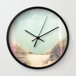 Light Leaks / The Way To The Beach Wall Clock