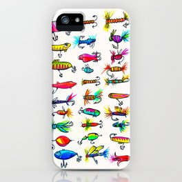 All the Fishing Lures - Illustration iPhone Case