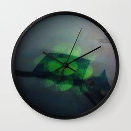 Light Study, Green Cat Wall Clock