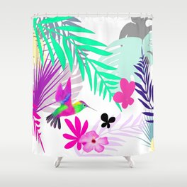 Full Exotic Shower Curtain