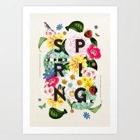spring Art Prints featuring SPRING by Dawn Gardner