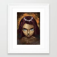 raven Framed Art Prints featuring Raven by Freeminds