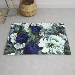 Vintage & Shabby Chic - Blue Winter Roses Rug