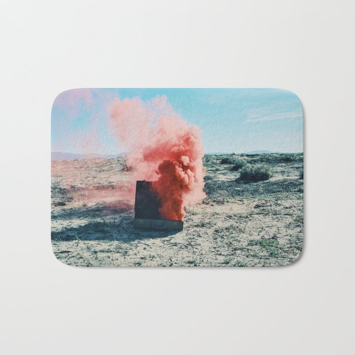 PINK SMOKE - SUIT CASE Bath Mat