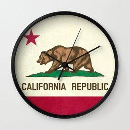 California Republic Flag Wall Clock