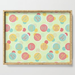 Positive Voice Affirmation Pattern Serving Tray