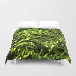 Crinkled Green Wrapping Paper Duvet Cover