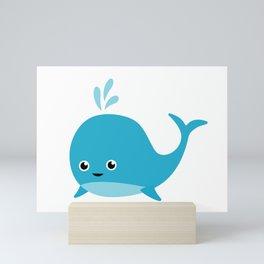 Cute Baby Whale Mini Art Print