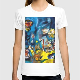 Psychological Morphology Abstract Expressionism landscape by R. Matta T-shirt