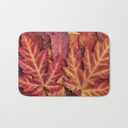 Colorful Autumn Maple Leaf Indian Summer Red Bath Mat