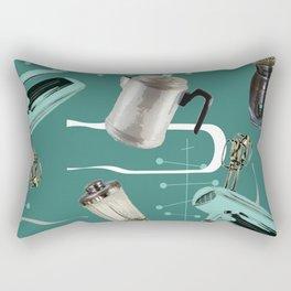 Fifties Kitchen Emerald Rectangular Pillow