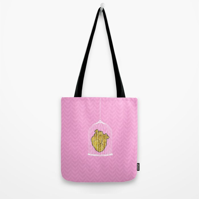 The Caged Heart Tote Bag