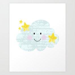 Kawaii Twinkle Little Star Art Print