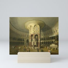 London, Interior of the Rotunda at Ranelagh by Canaletto Mini Art Print