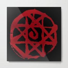 Blood seal Metal Print