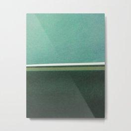 White Snow / Black Road 0003 - Paper on Paper Metal Print