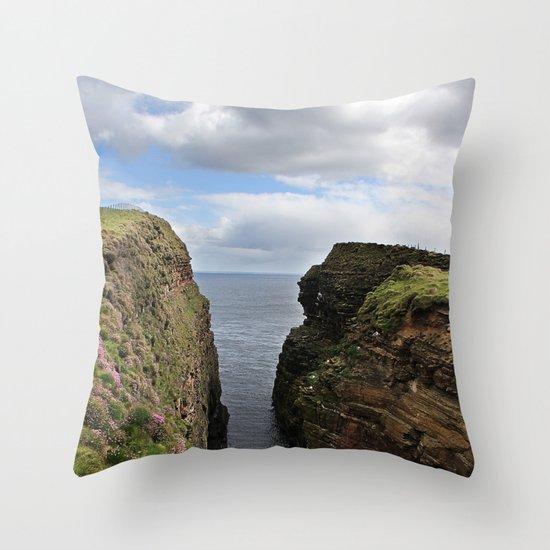 John O Groats Scotland Throw Pillow