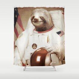 Sloth Astronaut Shower Curtain