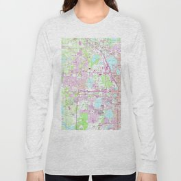 Vintage Map of Western Orlando Florida (1956) Long Sleeve T-shirt