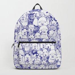 just alpacas blue white Backpack