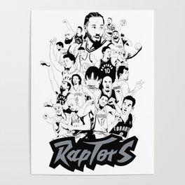 1995-2019 Raptors Poster