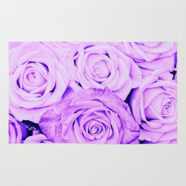 Some people grumble- Floral Ultra Violet Rose Roses Flowers Rug