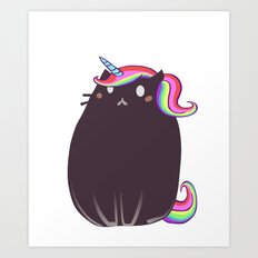 Cat Unicorn Art Print